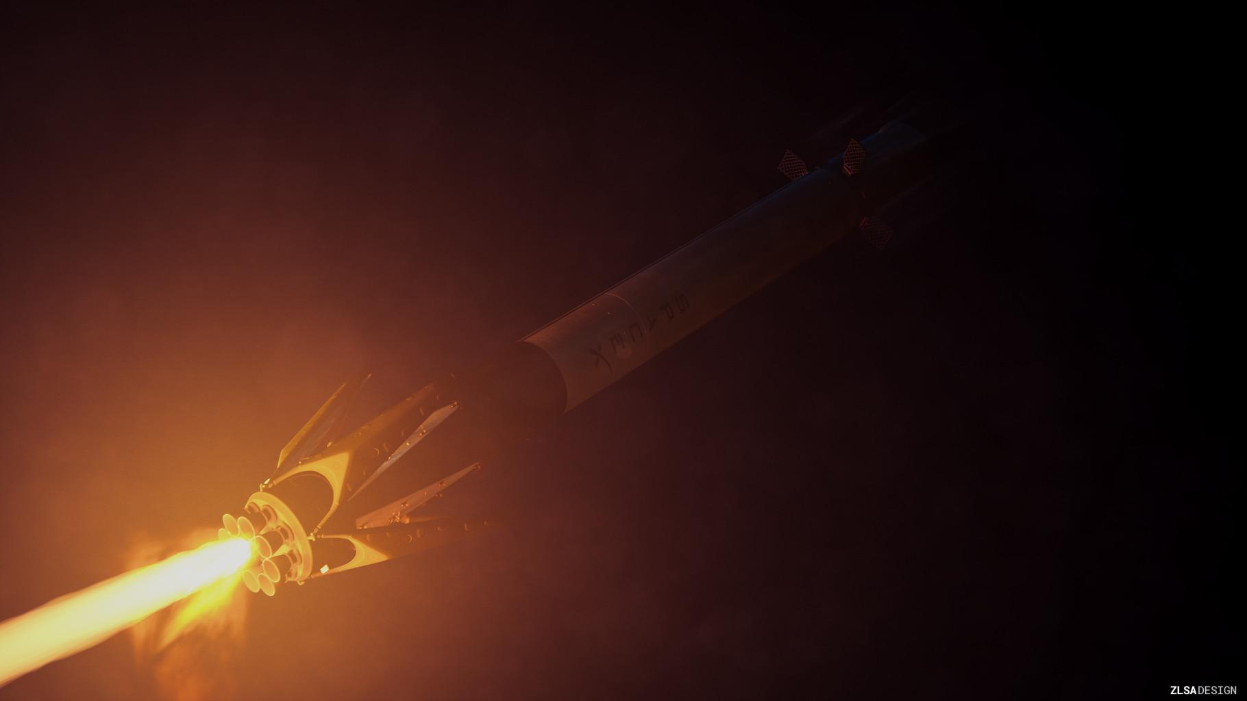 SpaceX Falcon 9 landing burn