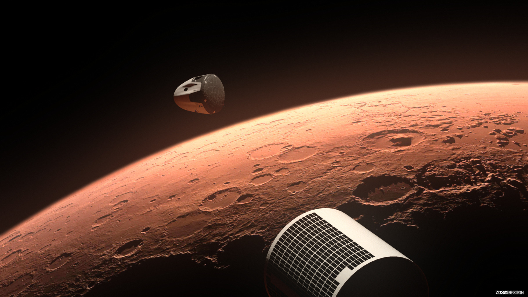 SpaceX Red Dragon at Mars